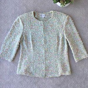 St. John Collection Multicolor Zip Jacket, Size 10